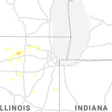 Regional Hail Map for Chicago, IL - Friday, June 26, 2020