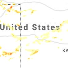 Regional Hail Map for Colby, KS - Friday, June 26, 2020