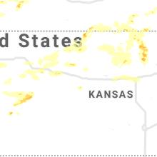 Regional Hail Map for Hays, KS - Friday, June 26, 2020