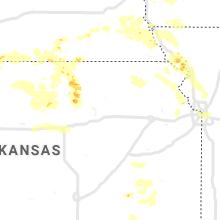 Regional Hail Map for Manhattan, KS - Friday, June 26, 2020