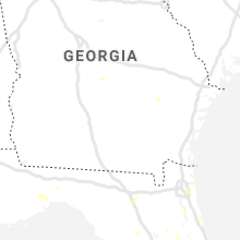 Regional Hail Map for Douglas, GA - Saturday, June 27, 2020