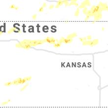 Regional Hail Map for Hays, KS - Saturday, June 27, 2020