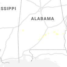 Regional Hail Map for Camden, AL - Sunday, June 28, 2020