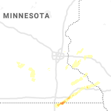 Regional Hail Map for Minneapolis, MN - Sunday, June 28, 2020