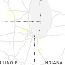 Regional Hail Map for Chicago, IL - Monday, June 29, 2020