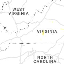 Regional Hail Map for Roanoke, VA - Wednesday, July 1, 2020