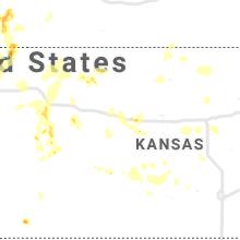 Regional Hail Map for Hays, KS - Thursday, July 2, 2020