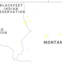 Regional Hail Map for Great Falls, MT - Saturday, July 4, 2020
