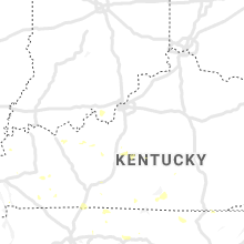 Regional Hail Map for Louisville, KY - Sunday, July 5, 2020