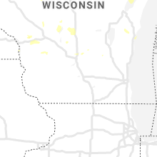 Regional Hail Map for Madison, WI - Monday, July 6, 2020