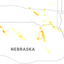 Regional Hail Map for Oneill, NE - Monday, July 6, 2020