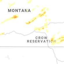 Regional Hail Map for Billings, MT - Tuesday, July 7, 2020