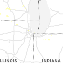 Regional Hail Map for Chicago, IL - Tuesday, July 7, 2020