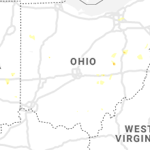 Regional Hail Map for Columbus, OH - Tuesday, July 7, 2020