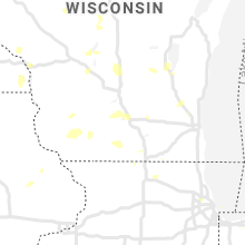 Regional Hail Map for Madison, WI - Tuesday, July 7, 2020