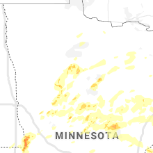 Regional Hail Map for Bemidji, MN - Wednesday, July 8, 2020