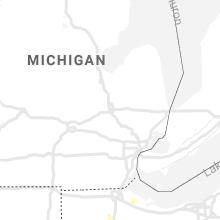 Regional Hail Map for Flint, MI - Wednesday, July 8, 2020