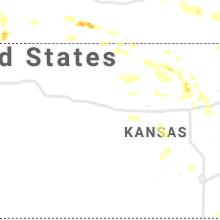 Regional Hail Map for Hays, KS - Wednesday, July 8, 2020
