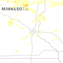 Regional Hail Map for Minneapolis, MN - Wednesday, July 8, 2020