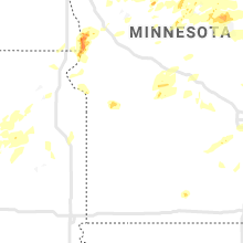 Regional Hail Map for Montevideo, MN - Wednesday, July 8, 2020