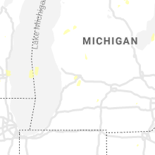 Regional Hail Map for Grand Rapids, MI - Thursday, July 9, 2020