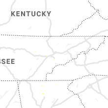 Regional Hail Map for Knoxville, TN - Thursday, July 9, 2020