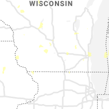 Regional Hail Map for Madison, WI - Thursday, July 9, 2020