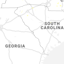 Regional Hail Map for Augusta, GA - Friday, July 10, 2020