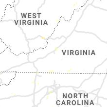 Regional Hail Map for Roanoke, VA - Friday, July 10, 2020