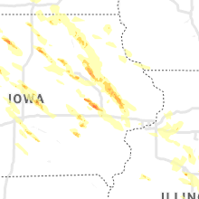 Regional Hail Map for Cedar Rapids, IA - Saturday, July 11, 2020