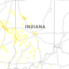 Regional Hail Map for Indianapolis, IN - Saturday, July 11, 2020