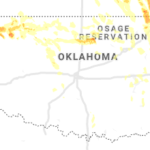 Regional Hail Map for Oklahoma City, OK - Saturday, July 11, 2020