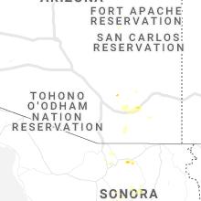 Regional Hail Map for Tucson, AZ - Saturday, July 11, 2020