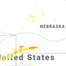 Regional Hail Map for North Platte, NE - Sunday, July 12, 2020