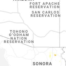 Regional Hail Map for Tucson, AZ - Tuesday, July 14, 2020