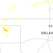 Regional Hail Map for Woodward, OK - Tuesday, July 14, 2020
