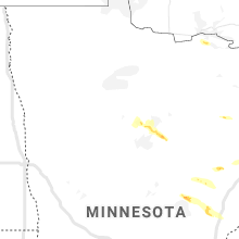 Regional Hail Map for Bemidji, MN - Thursday, July 16, 2020