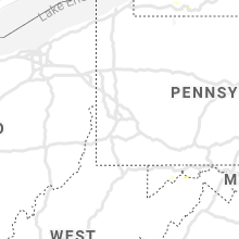 Regional Hail Map for Pittsburgh, PA - Thursday, July 16, 2020
