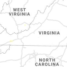 Regional Hail Map for Roanoke, VA - Thursday, July 16, 2020
