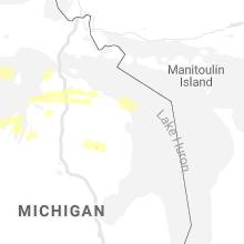 Regional Hail Map for Alpena, MI - Saturday, July 18, 2020