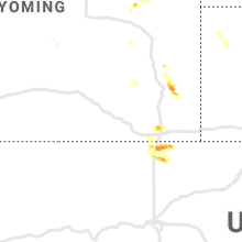 Regional Hail Map for Laramie, WY - Monday, July 20, 2020