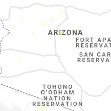 Regional Hail Map for Phoenix, AZ - Thursday, July 23, 2020