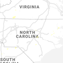Regional Hail Map for Raleigh, NC - Thursday, July 23, 2020