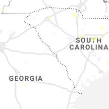 Regional Hail Map for Augusta, GA - Friday, July 24, 2020