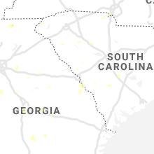 Regional Hail Map for Augusta, GA - Saturday, July 25, 2020