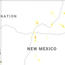 Regional Hail Map for Albuquerque, NM - Friday, July 31, 2020
