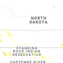 Regional Hail Map for Bismarck, ND - Friday, July 31, 2020