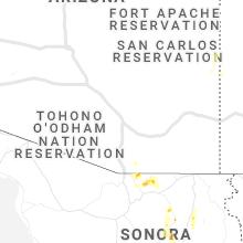 Regional Hail Map for Tucson, AZ - Friday, July 31, 2020