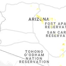 Regional Hail Map for Phoenix, AZ - Saturday, August 1, 2020