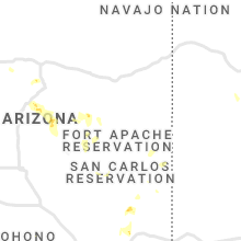 Regional Hail Map for Show Low, AZ - Saturday, August 1, 2020